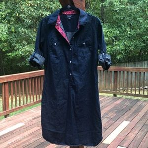 Women's Izod Denim Shirt Dress